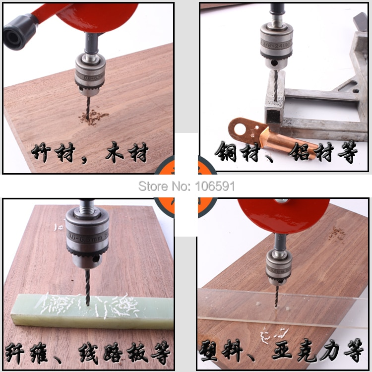 10MM Manual hand drill, Handle woodworking drill, hand  hole model, miniature drill woodworking hand tools enlarge