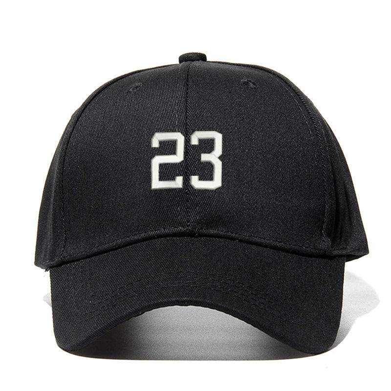 Gorra de béisbol Unisex con número 23, 11 colores, gorra de algodón bordada, accesorios de moda para fanáticos de la personalidad