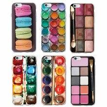 Jeu daquarelles colorées Palette de peinture gâteau macaron maquillage coque de téléphone souple Fundas pour iPhone 11 Pro 6S 7 7plus 8 8plus XS Max