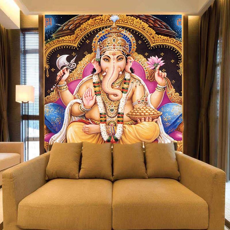 Индийские боги 8d Papel фрески индуистские божества Будда 3D фото фрески настенная бумага для фона Религия 3d обои настенные фрески