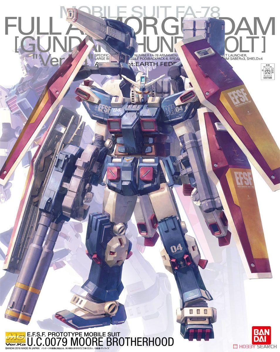 Bandai 1/100 mg completa armadura gundam ver. ka thunderbolt ver terno móvel figuras de ação montar modelo kits brinquedo
