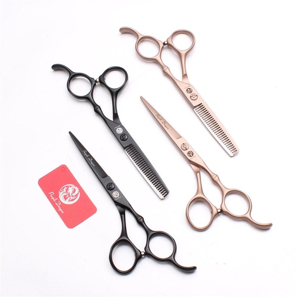 Z9030 tesoura de desbaste de cabelo 5.5 16cm, purple dragon, para cabeleireiro, ferramentas para estilização de cabelo humano profissional