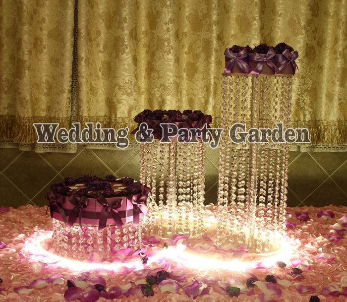 wedding crystal cake stand wedding decoration prop wedding centerpiece 3pcs/lot crystal cake holder D20,25,30,H45,30,15