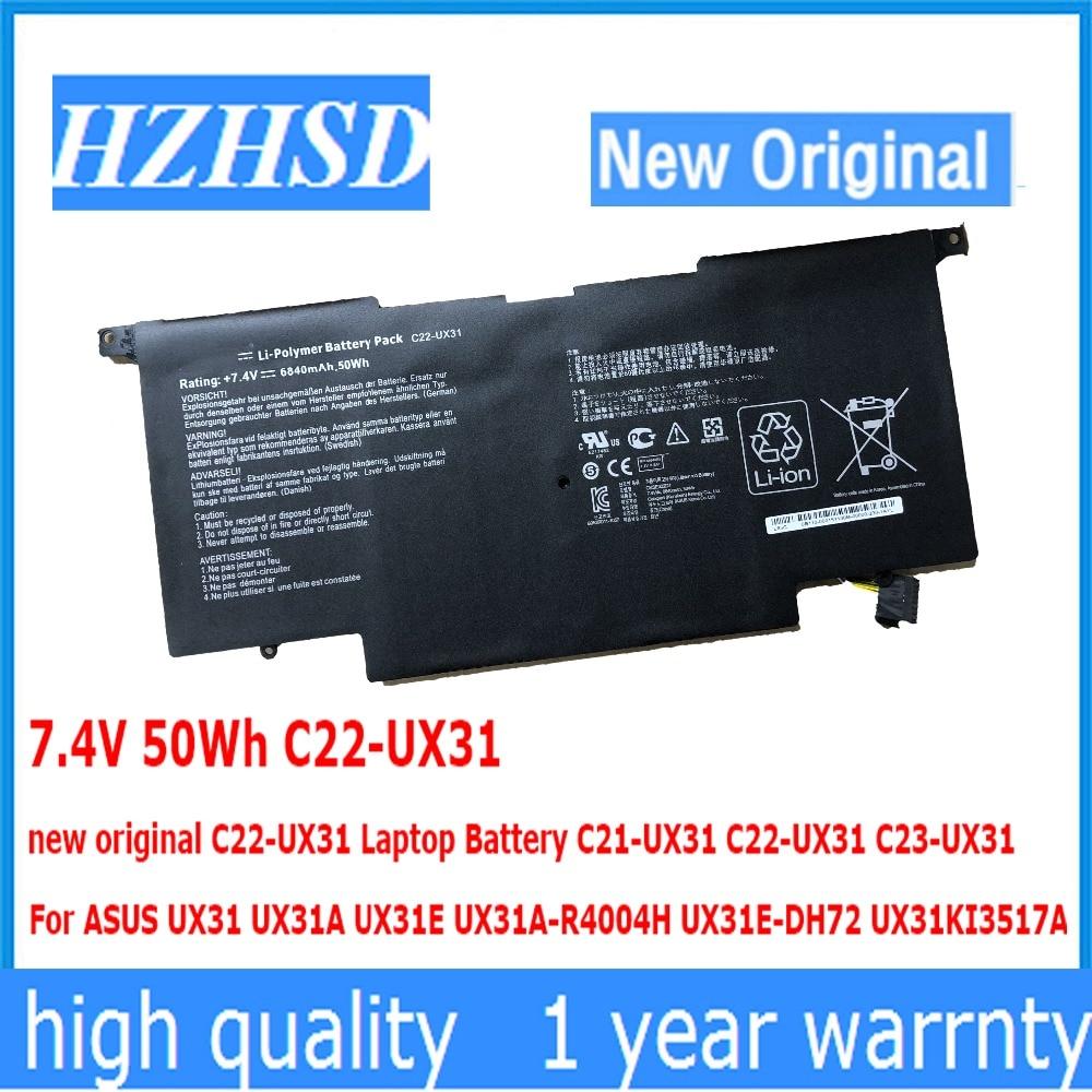 7,4 V 50Wh C22-UX31 nuevo original C22-UX31, batería para ordenador portátil, C21-UX31...