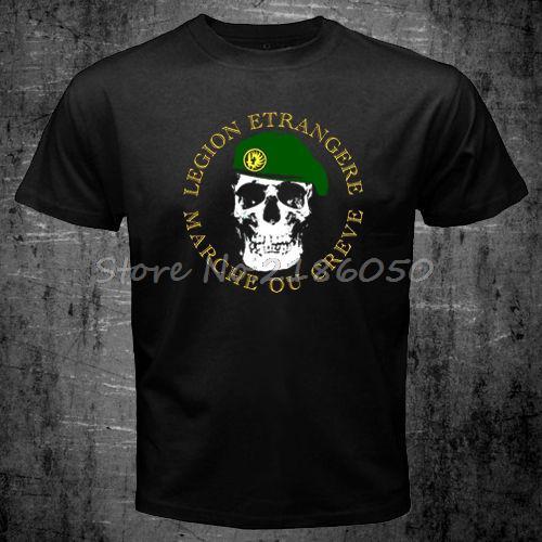 Camiseta del Ejército de la guerra mundial de las fuerzas especiales de la Legión Extranjera francesa, Camisetas para hombre, Camisetas de algodón