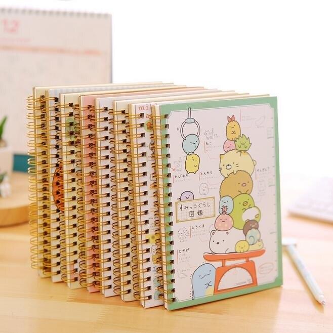 1 unids/lote 180*125mm adorable dibujos animados japoneses Rilakkuma y sumikkoguraf bobina cuaderno diario libro Oficina suministros escolares