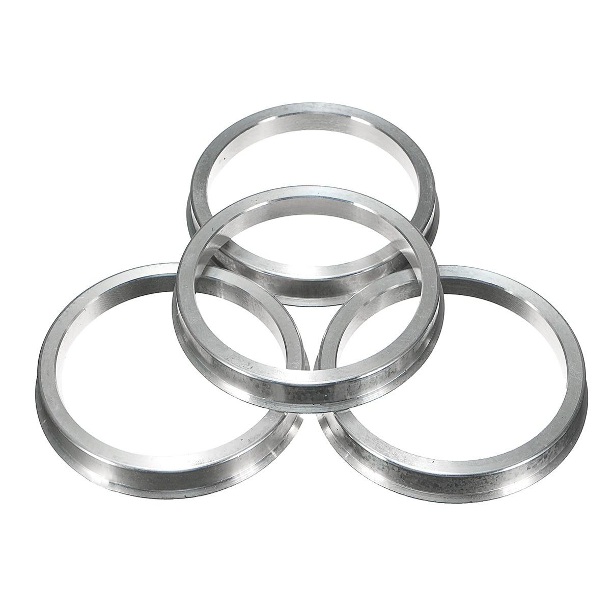4 stücke 66-57mm Aluminium Zapfen Minderer Ringe Für VW SITZ für AUDI für MERCEDES Legierung Räder
