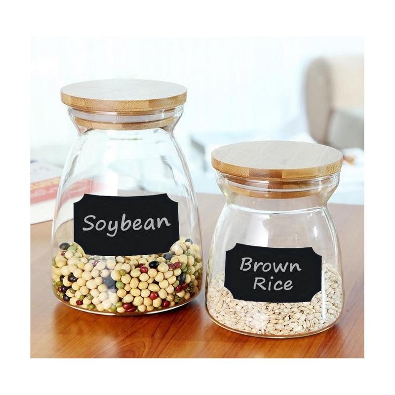 8 unids/set de botellas y etiquetas para tarros, tarros de cocina de boda, pizarra, adhesivos de pizarra, etiquetas para botellas