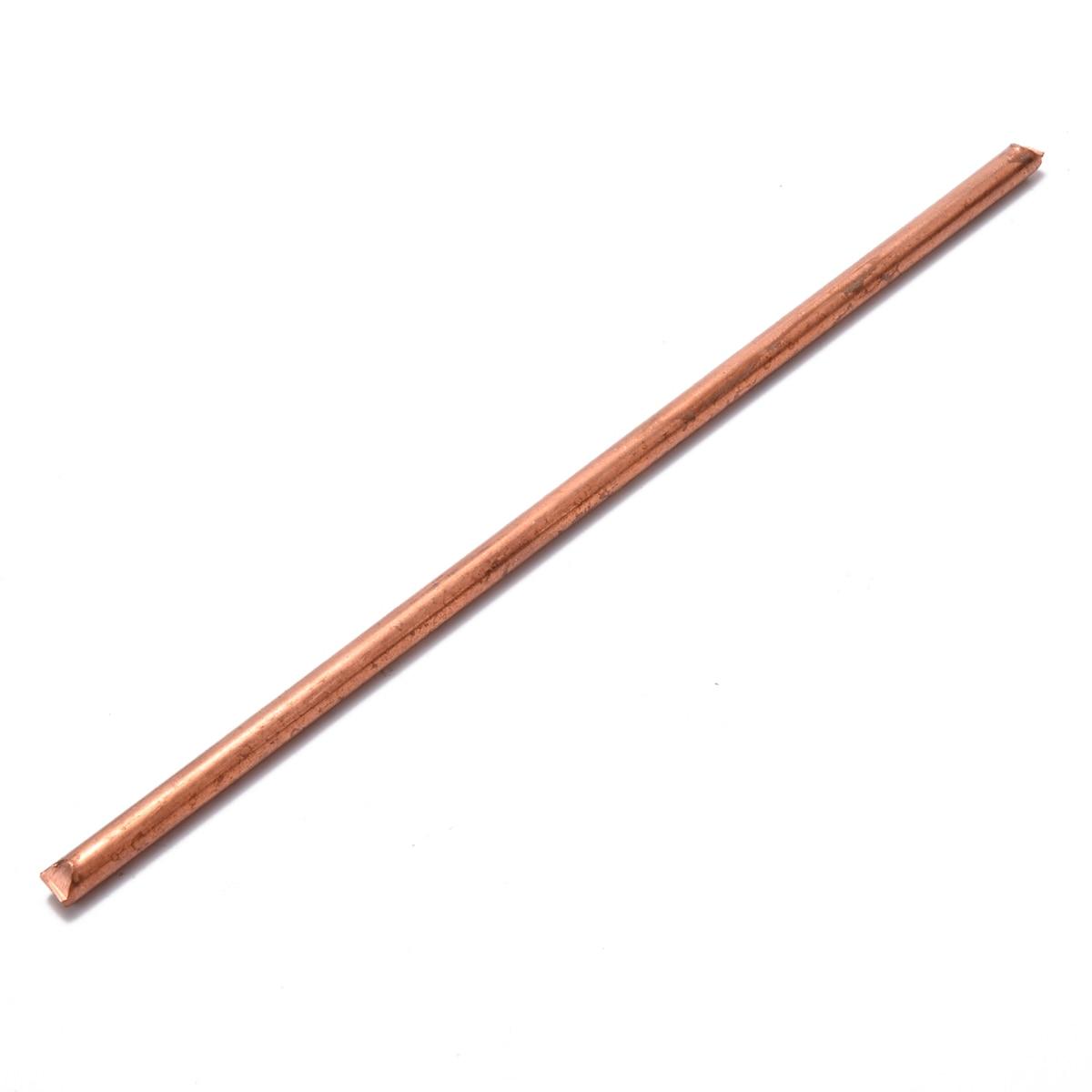 1 varilla de cobre sólido 99.9% puro Mayitr barra de cobre 200mm diámetro de 6mm para aparatos eléctricos