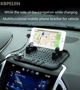 New Car Anti Slip Mat Magic Mobile Mat USB Charge Holder for saab key 9-3 9-5 emblem 93 evening dress 95 900 9000 accessories