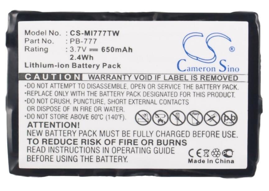 Batería de 650mah Cameron Sino para MIDLAND 777 PMR446 + baterías de PB-777
