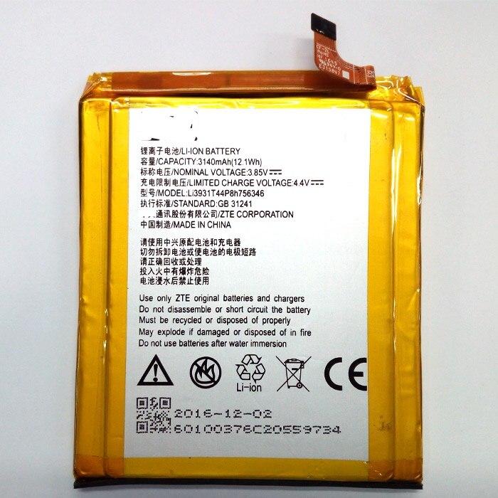 Для ZTE Axon 7, 5,5 дюйма, A2017 LI3931T44P8H756346, встроенный литий-ионный полимерный аккумулятор