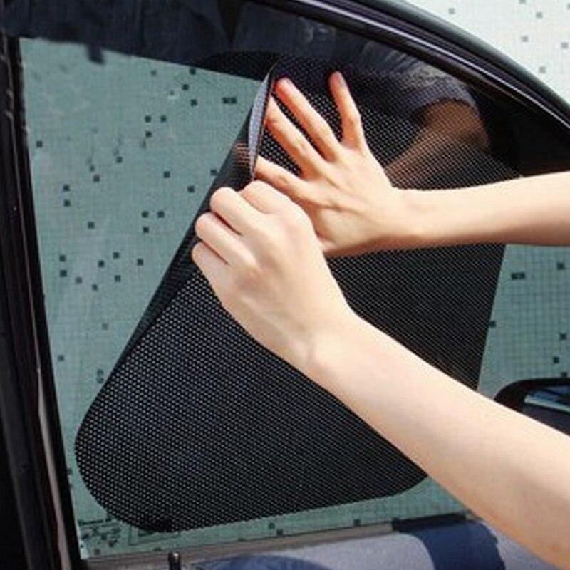 63*42cm coche 2 uds parabrisas de cortina pegatinas Auto ventana PVC de alto grado