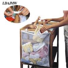 LDAJMW 2017 Large Capacity Baby Bed Storage Hanging Bag Organizer Easily Fix baby Cribs Bed Crib Organizers Crib Storage