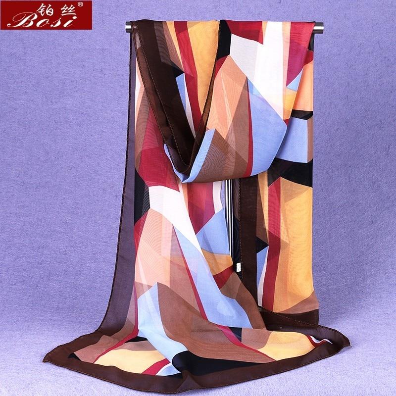 chiffon scarf winter ponchos woman print plaid designer luxury brand ladies hijab head wrap sjaal stoles spring ethnic schal new