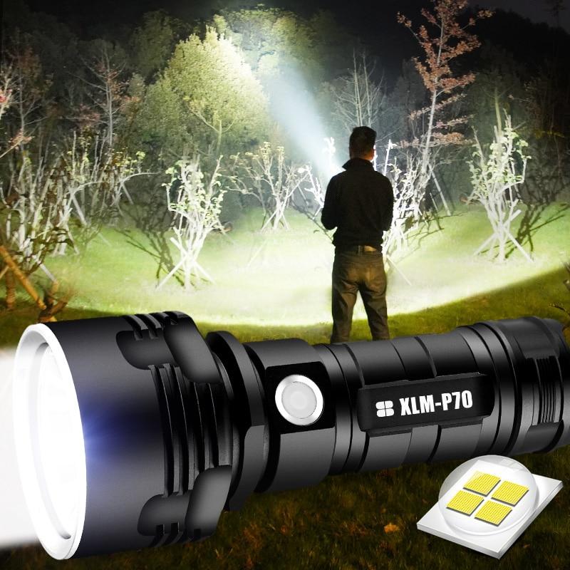 SHEN-مصباح يدوي LED عالي الطاقة ، مصباح يدوي تكتيكي ، USB قابل لإعادة الشحن ، L2 XHP50 ، مقاوم للماء ، مصباح فانوس فائق السطوع