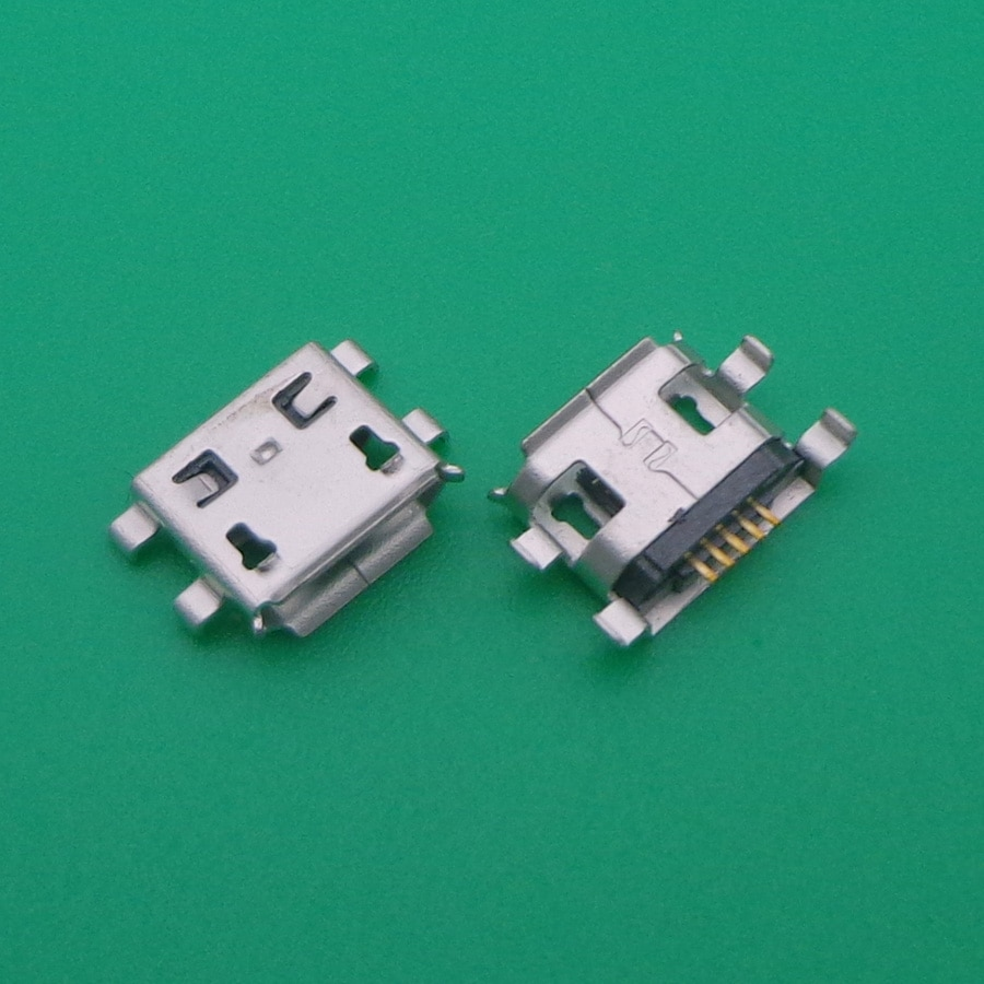 مقبس موصل micro usb ، 100 قطعة ، منفذ شحن ، لـ ALCATEL OT POP C1 C2 C3 IDOL 4015 4019 4032 5050 6016 8008