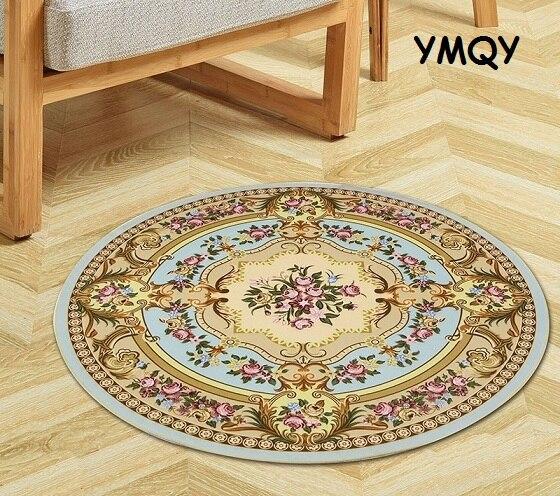 Europa alfombra redonda antideslizantes alfombras de piso estera de Yoga para dormitorio salón habitación ronda jugar alfombra, ordenador, silla canasta colgante Mat