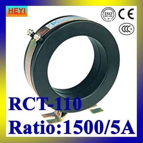 Fábrica supplyRCT-110 1500/5A transformador de corrente tipo janela CT baixa tensão interior