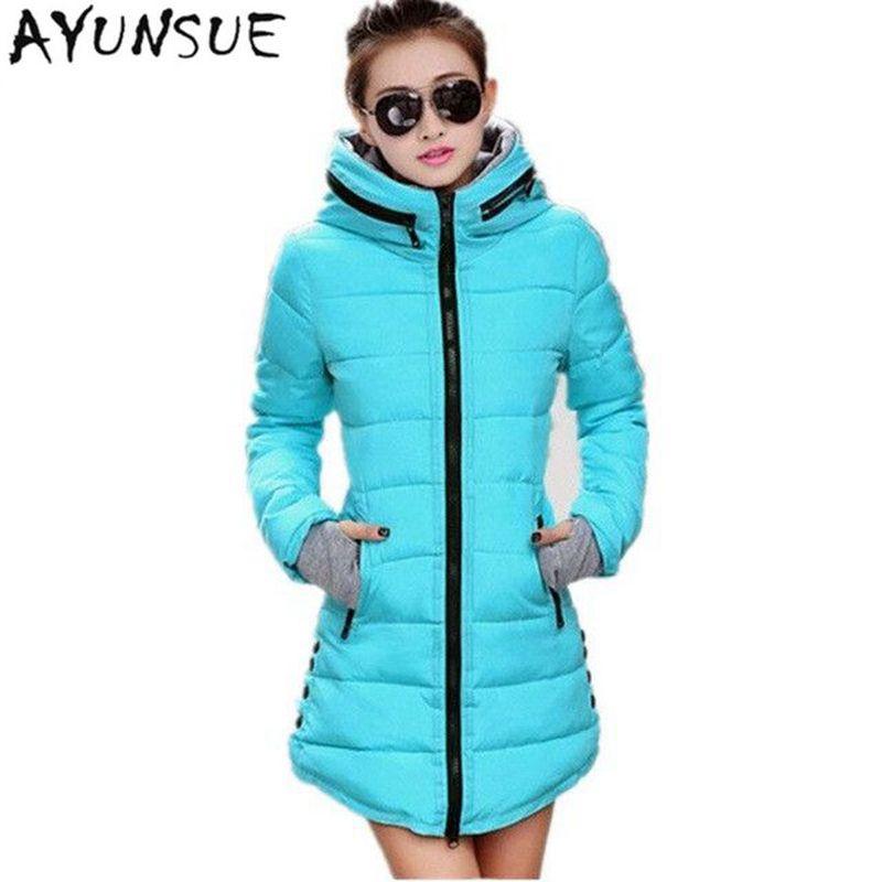 Women's Jacket Winter 2020 New Medium-Long Cotton Parka Plus Size Coat Slim Ladies Casual Clothing Hot Sale