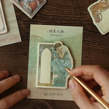 30 arkuszy/podkładka epicka poezja Vintage notatnik N razy kartki samoprzylepne Escolar Papelaria dostawa zakładka etykieta