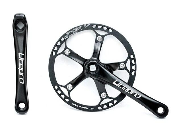 Bielas de bicicleta Litepro 45t 47 t, bielas BMX para bicicletas plegables BYA412, piezas BMX
