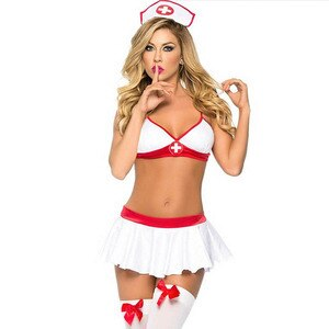 Sexy Womans Naughty Nurse Costume Hen Fancy Dress Party Outfit Cosplay Halloween Costume For Women Ladies private wear Role play