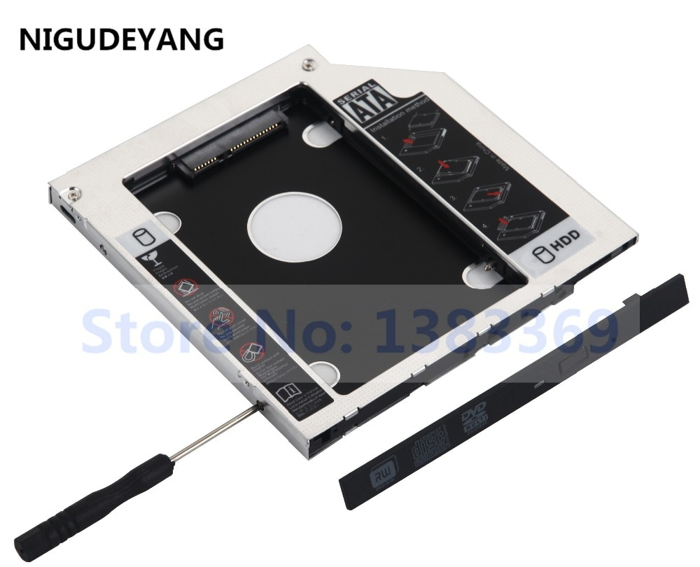 NIGUDEYANG 2nd Festplatte SSD HDD Caddy für ASUS X552M X555L X555LA X555LB X555LJ X555QG R554L R751L G771jw R556L R556LA f751L