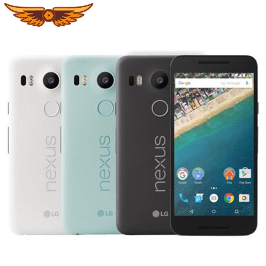 Original desbloqueado LG Nexus 5X H791 Hexa Core 5,2 pulgadas 2GB de RAM 16/32GB ROM 4G LTE 13,0 MP Cámara 1080P Android 6,0 Smartphone