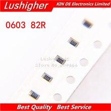 300PCS 0603 SMD Resistor 5% 82R ohm 820 82ohm