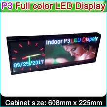 "Pantalla LED P3 RGB Edición personalizada, señales publicitarias LED a todo color para interiores, módulo LED SMD 2121 P3, H8.9 ""x W24"" (64*192 píxeles)"