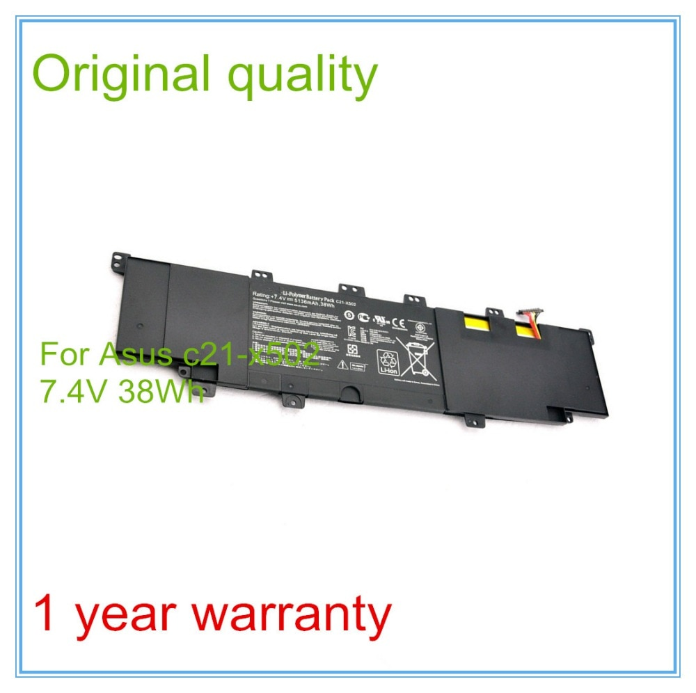 بطارية C21-x502 أصلية جديدة 7.4 فولت بقدرة 5136 مللي أمبير في الساعة لأجهزة الكمبيوتر المحمول X502 X502c X502ca