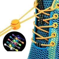 1 pair stretching lock lace sneaker shoelaces elastic shoe laces shoe accessories lacets shoestrings runningjoggingtriathlone