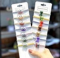 new fashion cute small dinosaur hair ring female tie rope korean elastic rubber hair bands hair rope childrens hair accessories