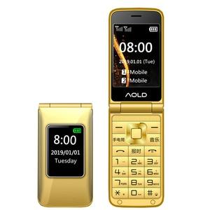 Мобильный телефон-раскладушка с русской клавиатурой, 2,8 дюйма, 2 Sim-карты