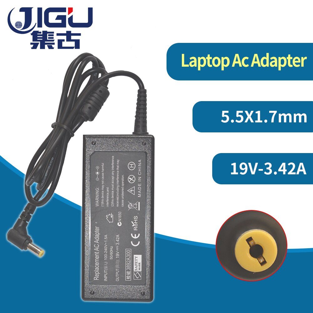 JIGU nueva 19V de 3.42A 5,5x1,7mm AC cargador de ordenador portátil adaptador...