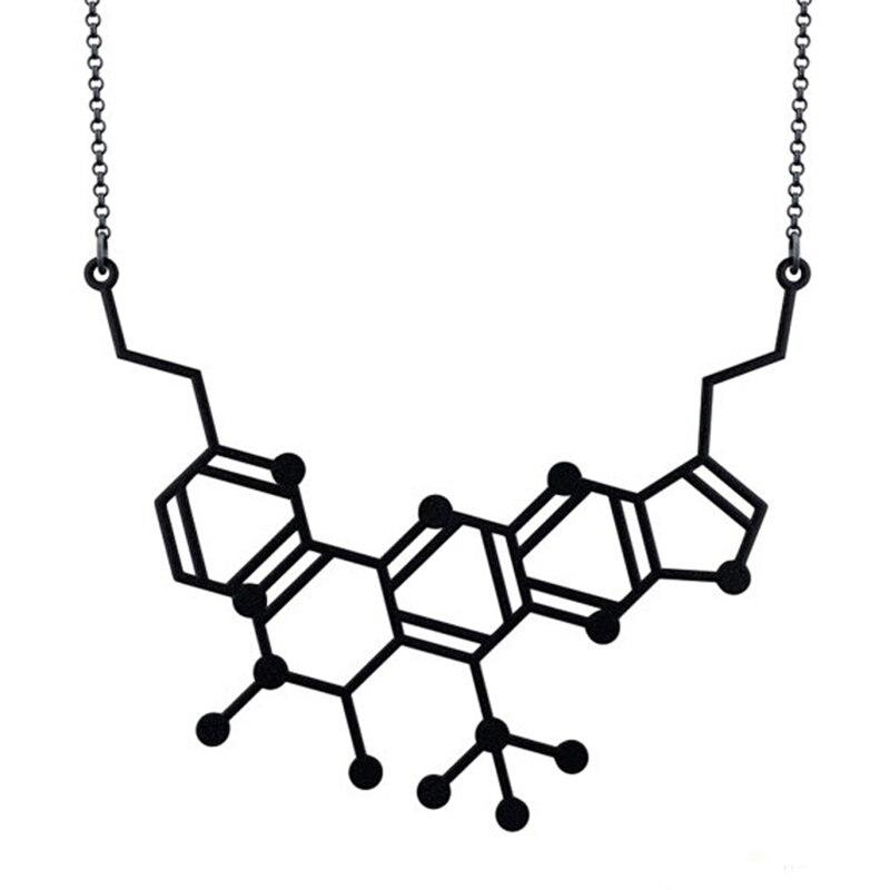 Neurotransmitter Molecule Necklace
