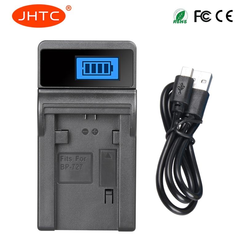 JHTC BP-745 BP-727 BP-718 BP745 BP727 LCD USB Chargeur De Batterie Pour Canon HFR80 HFR82 HFR800 HFR70 HFR72 HFR700 HFM52 HFM500 HFR30