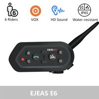 Bluetooth-гарнитура для мотоциклетного шлема, VOX AUX, GPS, 6 человек
