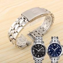 19mm 20MM solidna stal nierdzewna 1853 pasek zegarka dla tissote 1853 T-SPORT PRC200 T17 T461 T014430 T014410 Watchband człowiek