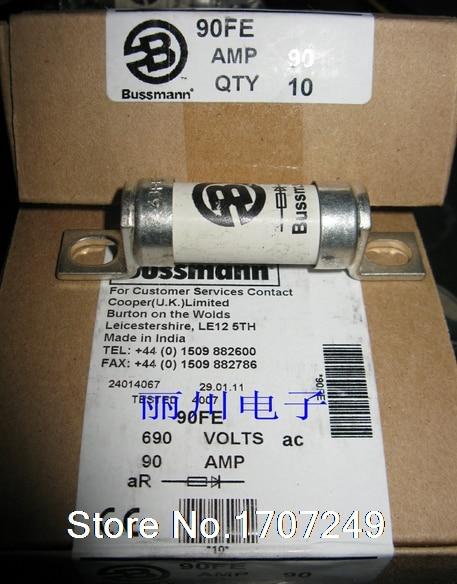10Pcs/lot New Original US BUSSMANN fuse 690V 90A BS88: 4 fuses 90FE BS88 4 90FE 90A 690V fast fuse