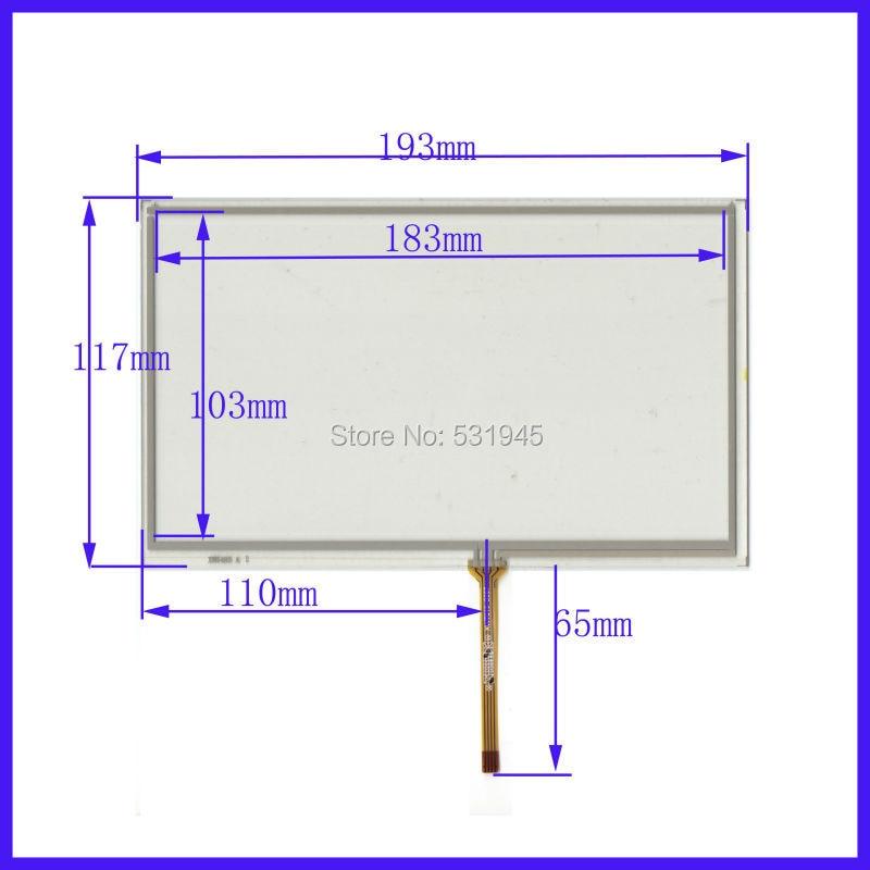 Pantallas táctiles ZhiYuSun HC-300-080 pantalla táctil de 8 pulgadas 4 líneas pantalla táctil de 193mm x 117 vidrio XWT485 193mm * 117mm HC300080