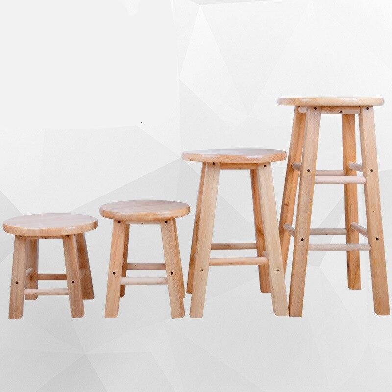 كرسي خشبي متعدد الوظائف مع مسند للقدمين بار البراز تغيير الأحذية المنزلية مقعد الطعام كرسي بسيط الترفيه البراز تعزيز