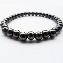 2019 Nwe marchandises 6MM noir gallstone hématite bouddha perles couples santé Semi-précieuse pierre Bracelet bijoux