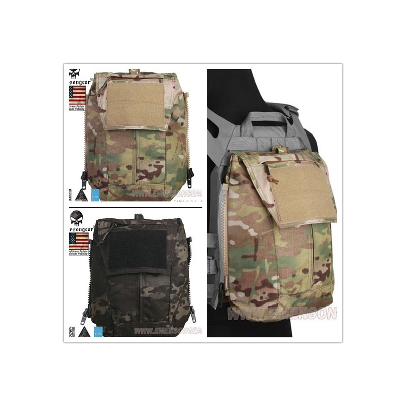 EmersonGear, bolsa con cremallera, bolsa de Panel trasero MOLLE, paquete de Multicam para AVS CPC JPC2.0 + envío gratis