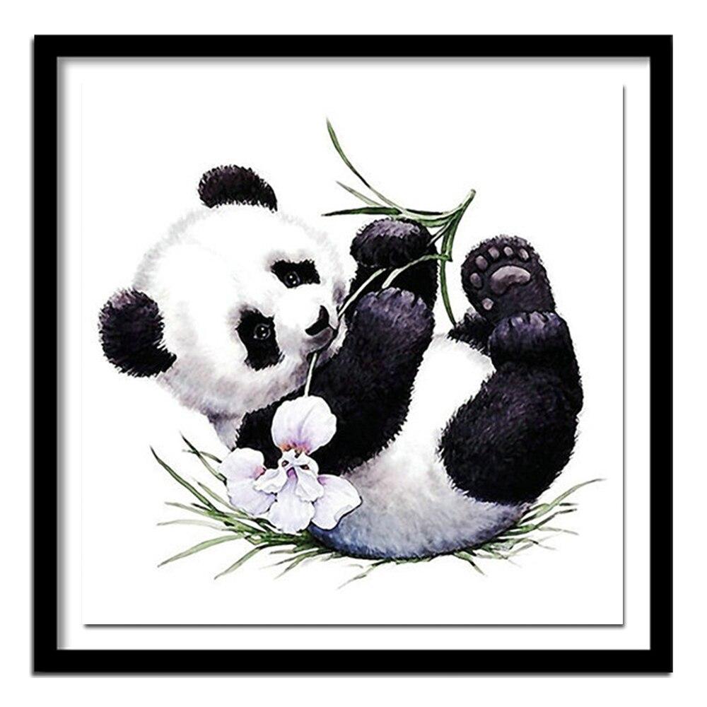 5D Diy Diamant Panda Diamant Malerei Kreuz Stich Voll Platz 3D Diamant Stickerei Home Decor Hand Harz Tiere