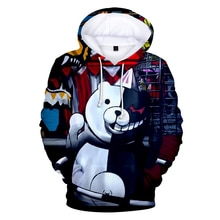 Hot stripfiguren Monokuma 3D Hoodies Mannen En Vrouwen Fashion Lange Mouwen Hooded Swetshirt Creatieve Monokuma Print Hoodies