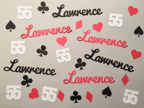Nombre personalizado, Casino, boda, cumpleaños, Confettis, mesa de dispersión, baby bridal shower, despedida de soltera, decoraciones de fiesta