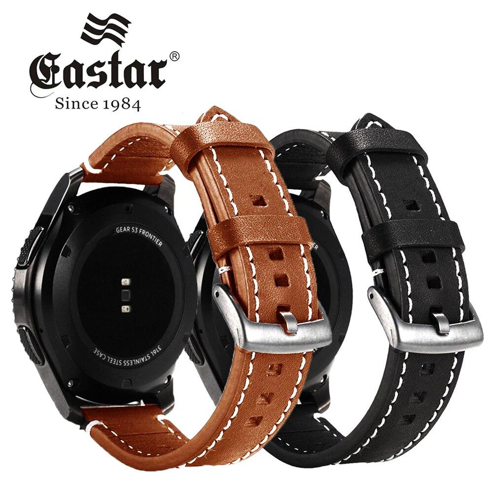 Bracelet en cuir véritable Eastar pour Samsung Gear S3 bracelet frontière pour xiaomi huami amazfit bip pace lite sangle
