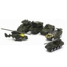 5 Pcs/Set 1:64 Scale Mini Diecast Toy Vehicles Sliding Cars Model Metal Alloy Military Model Cars Tank Vehicles For Kids